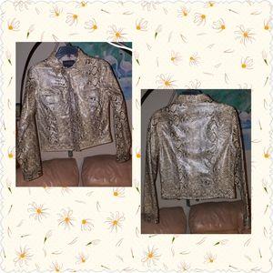 Express Faux Snakeskin Jacket